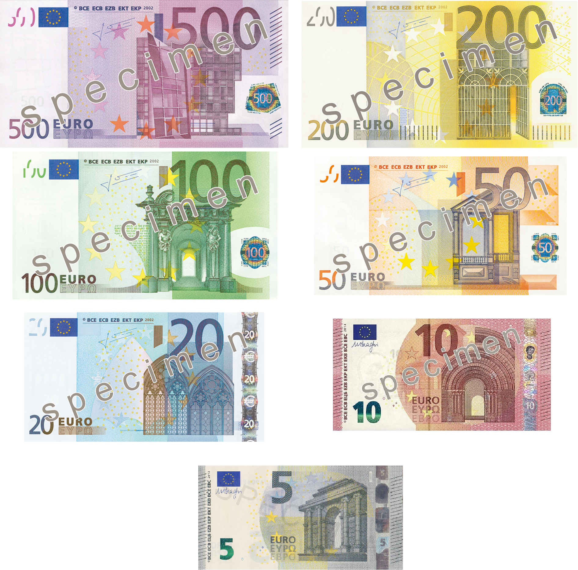 how to tell if 500 euro note is fake